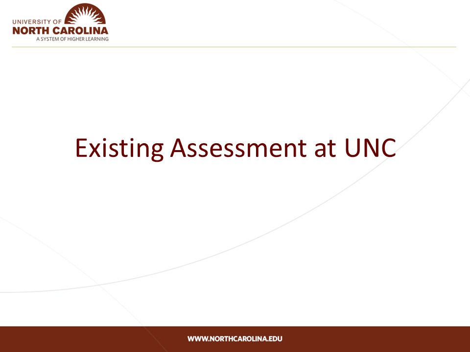 Existing Assessment at UNC