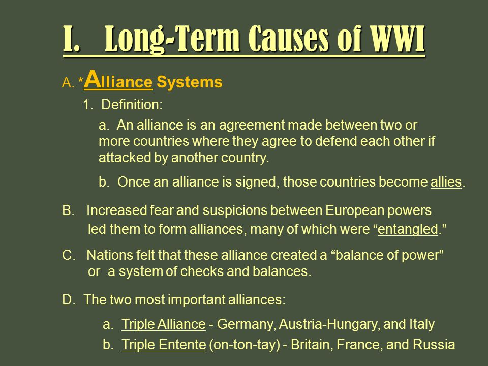 most important cause world war 1 essay