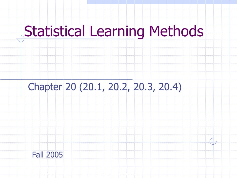 Statistical Learning Methods Copyright, 1996 © Dale Carnegie & Associates, Inc.