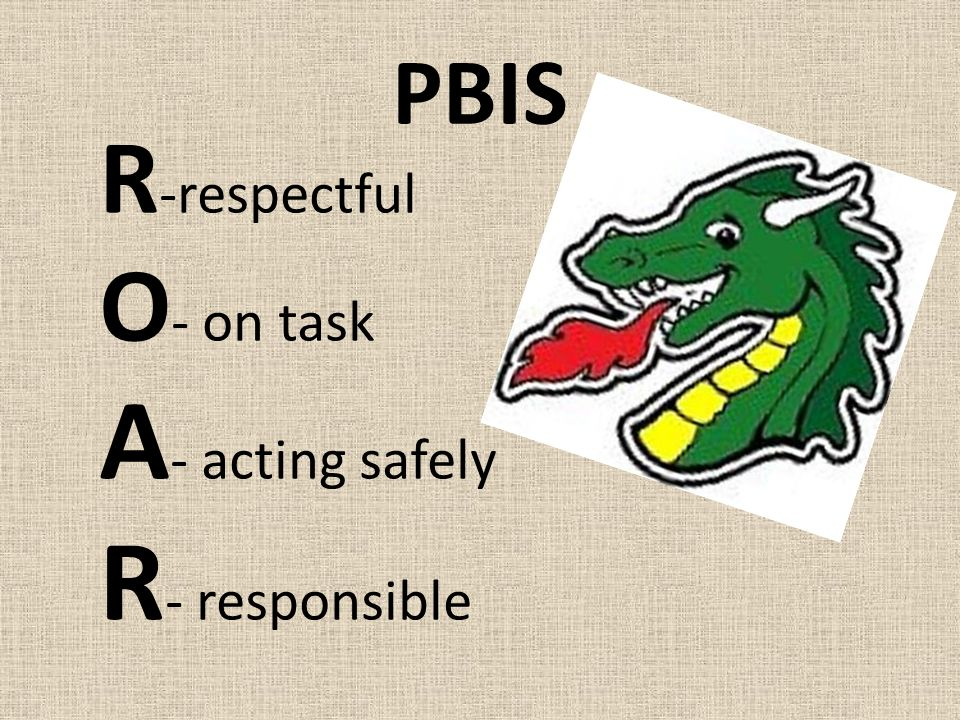 PBIS R -respectful O - on task A - acting safely R - responsible