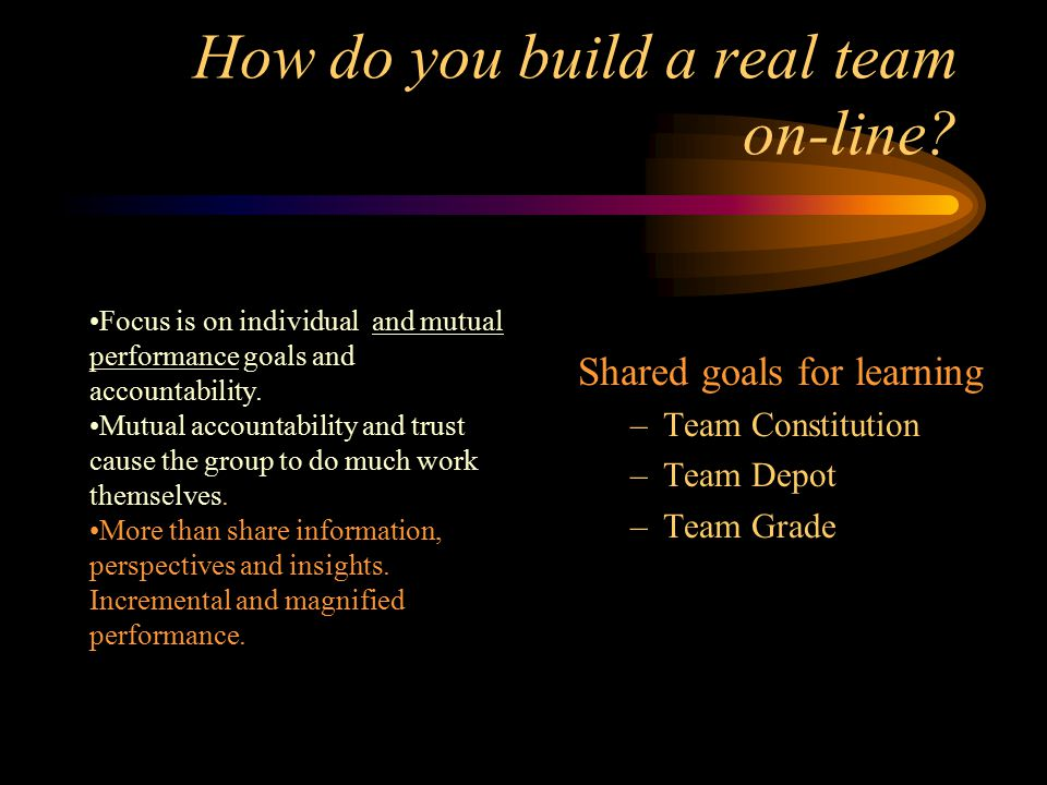 What are the differences between a working group and a real team.
