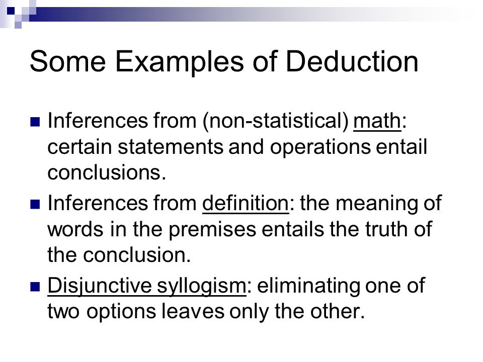 Concept Of Deduction Induction With Examples Lessons Tes Teach