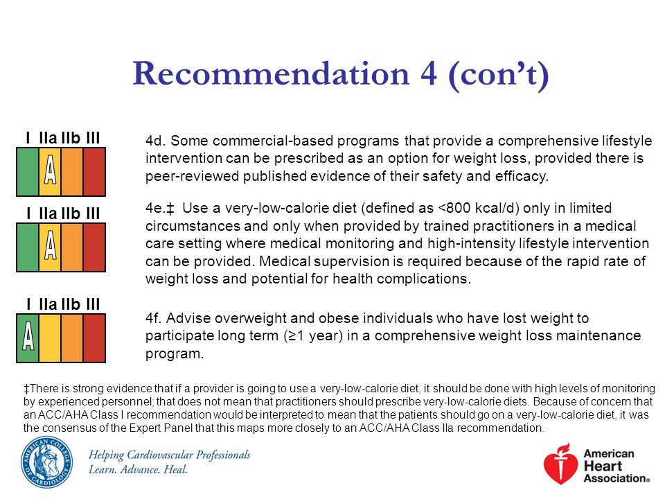 Recommendation 4 (con't) 4d.