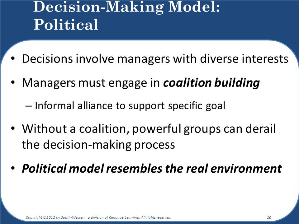 coalition model of decision making