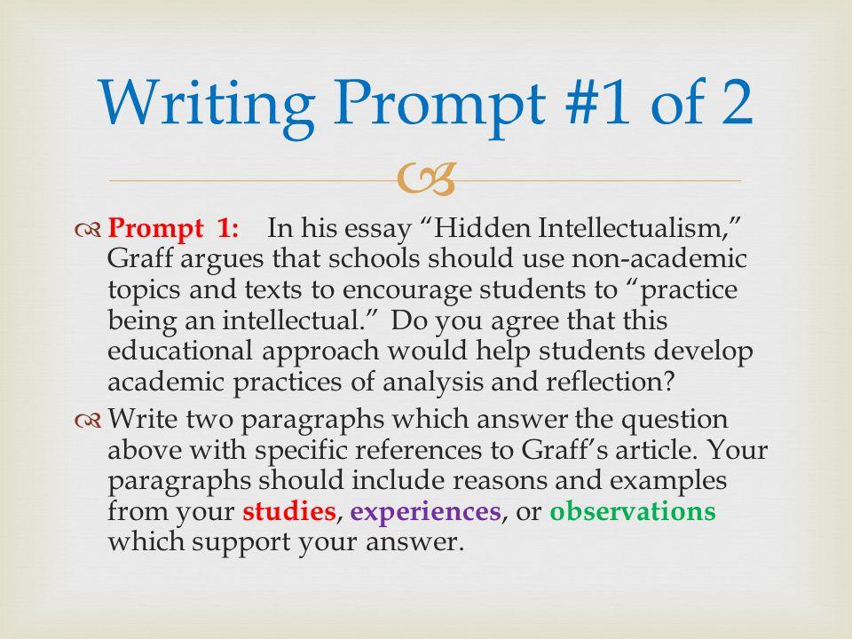 hidden intellectualism summary essay
