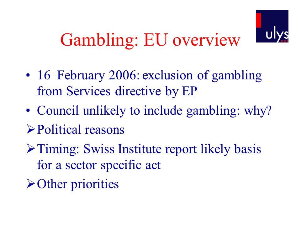 Eu gambling directive casino ons qui roulette