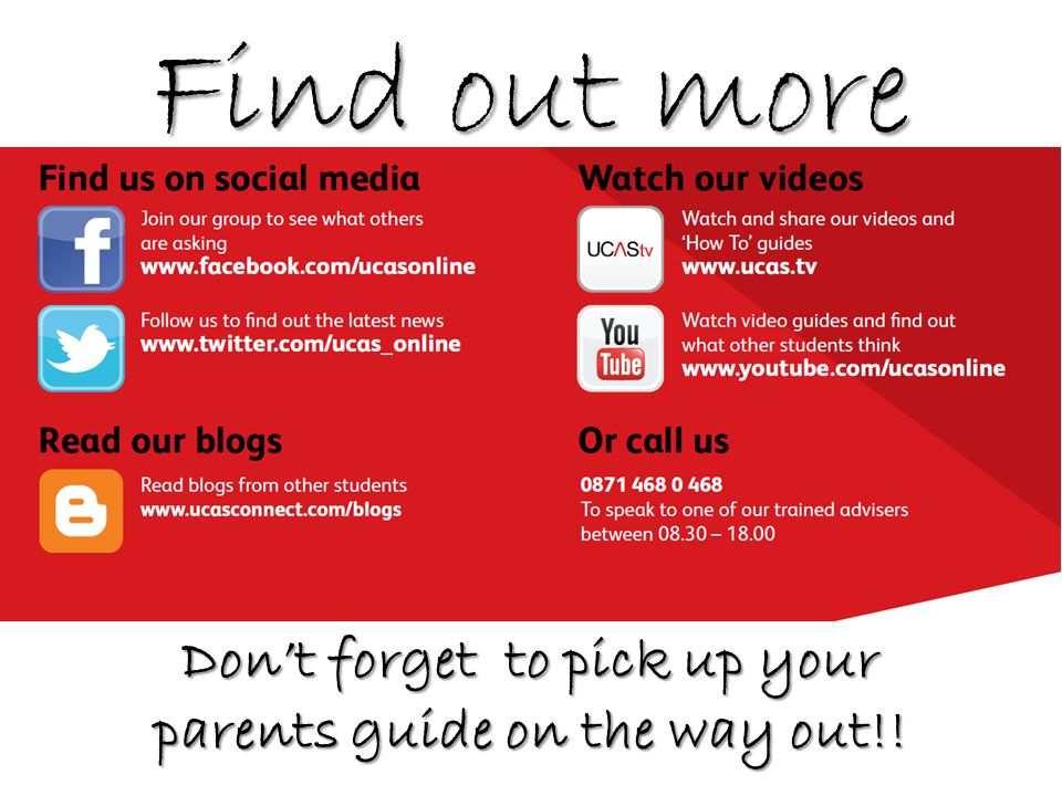 Find out more Don't forget to pick up your parents guide on the way out!!
