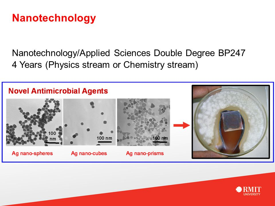 Nanotechnology Nanotechnology/Applied Sciences Double Degree BP247 4 Years (Physics stream or Chemistry stream)