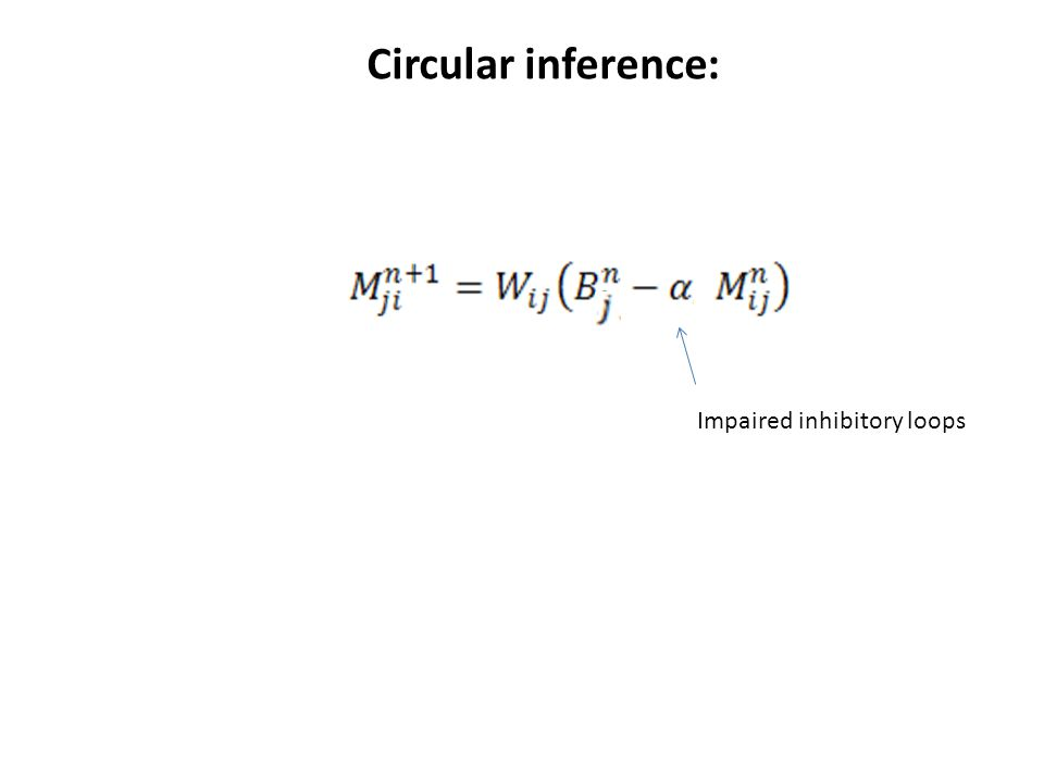 Circular inference: Impaired inhibitory loops