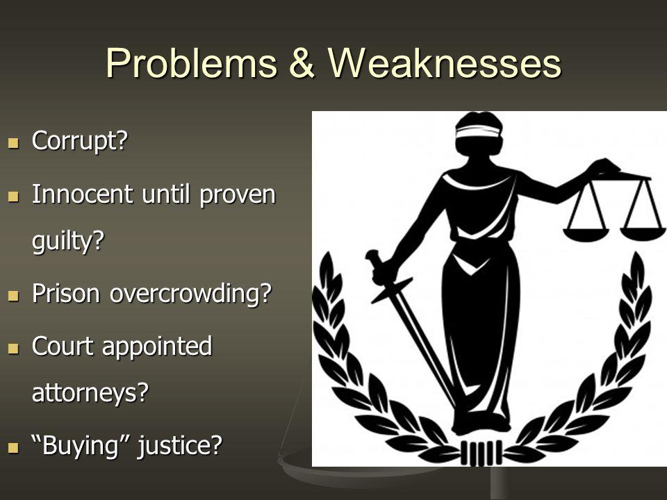 Corrupt justice system?