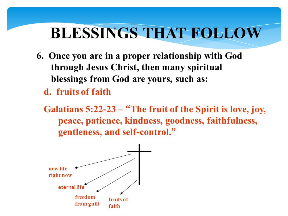 BLESSINGS THAT FOLLOW 6.
