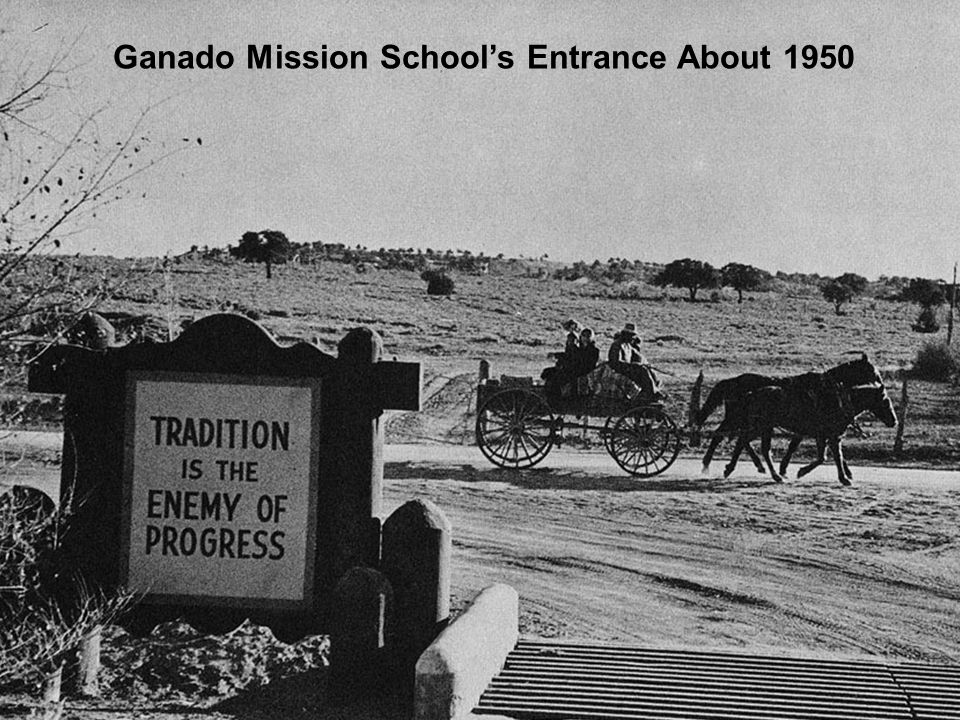 Ganado Mission School's Entrance About 1950