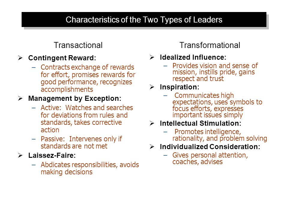 Full Range of Leadership Model  Leadership styles listed from passive to very active  Note the ineffective styles are mostly transactional  It is all about influencing followers © 2009 Prentice-Hall Inc.
