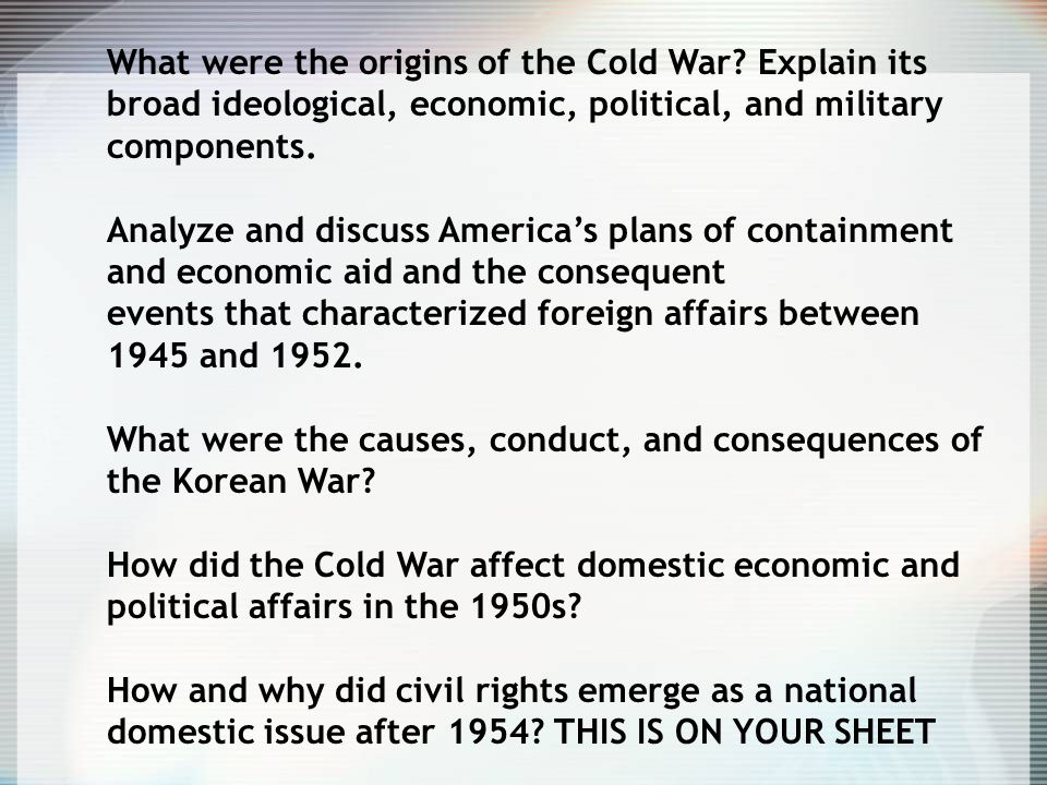 conclusion of the cold war essay