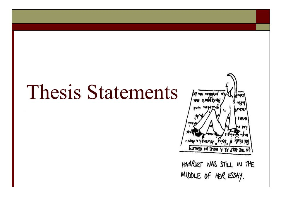 statement of thesis