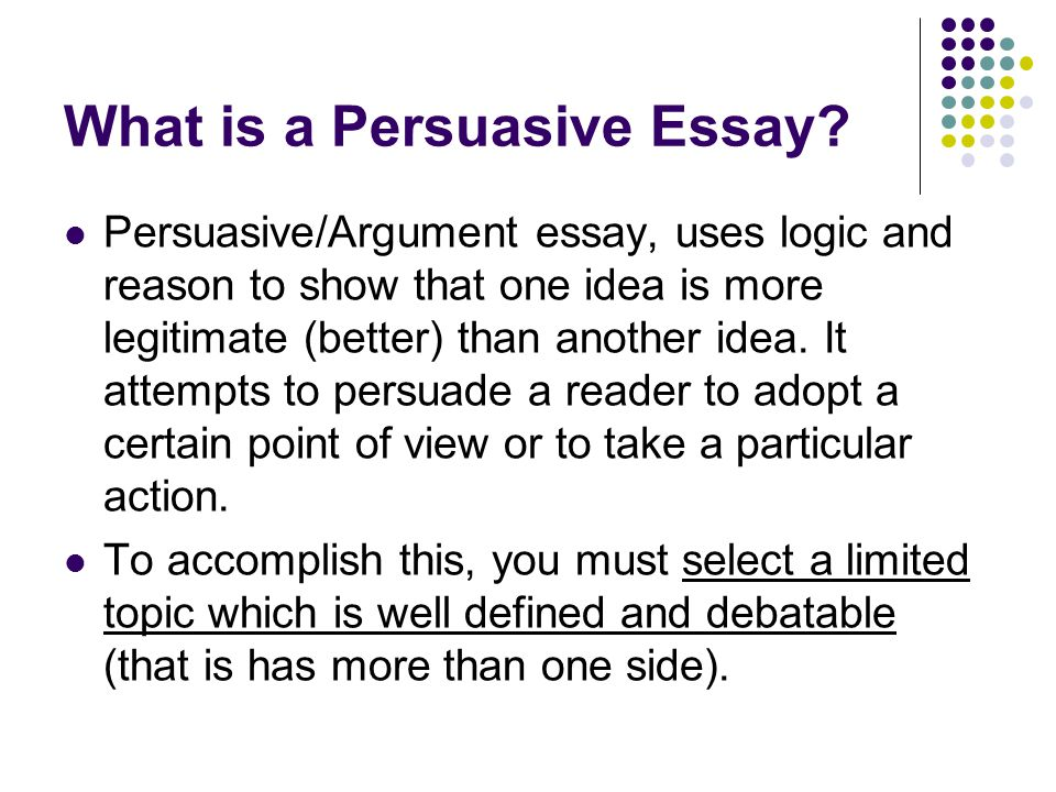 argument and persuasive essay