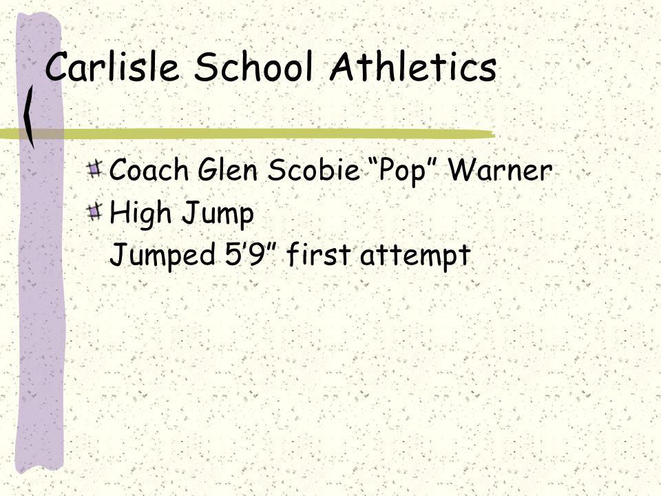 Carlisle School Athletics Coach Glen Scobie Pop Warner High Jump Jumped 5'9 first attempt