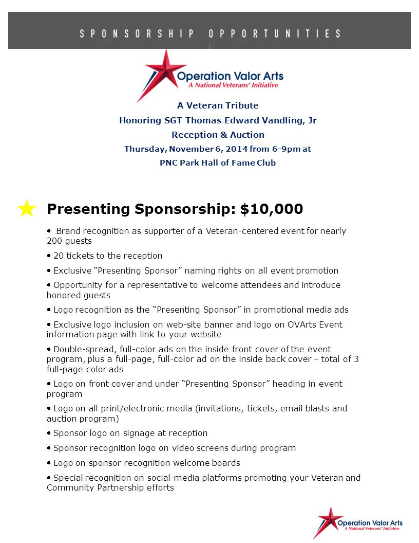 the event program