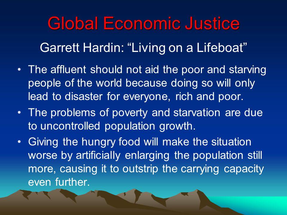Hardin lifeboat ethics essay