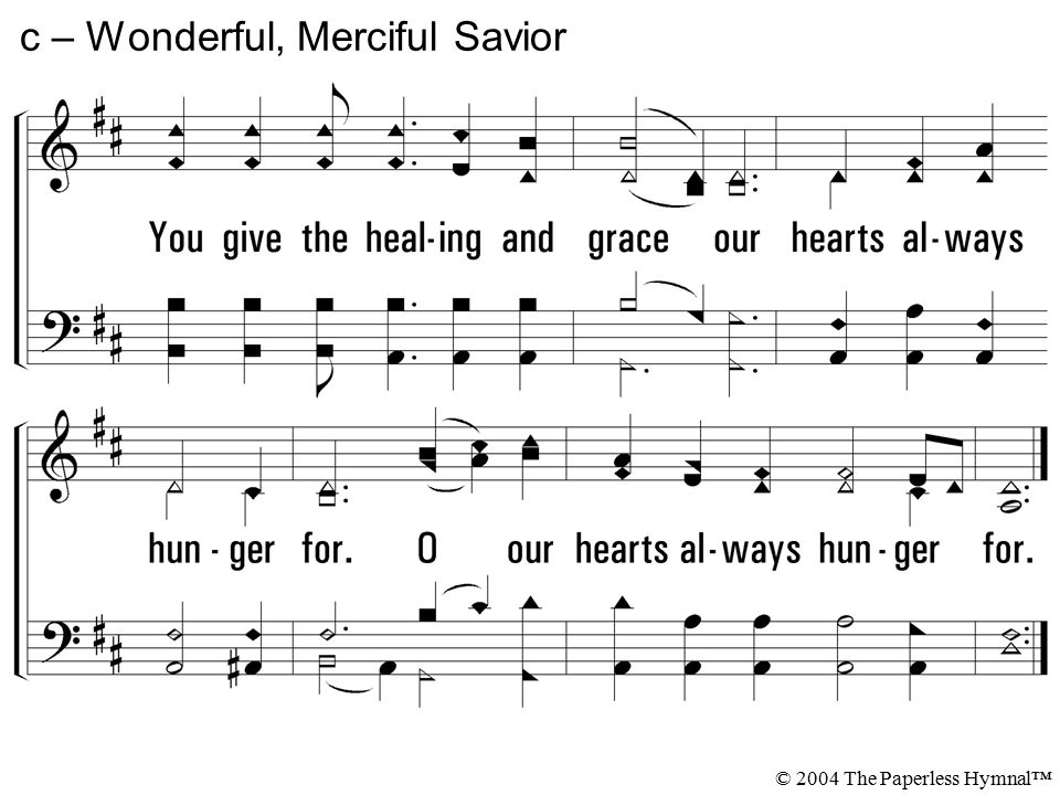 Wonderful Merciful Savior Sheet Music Erkalnathandedecker