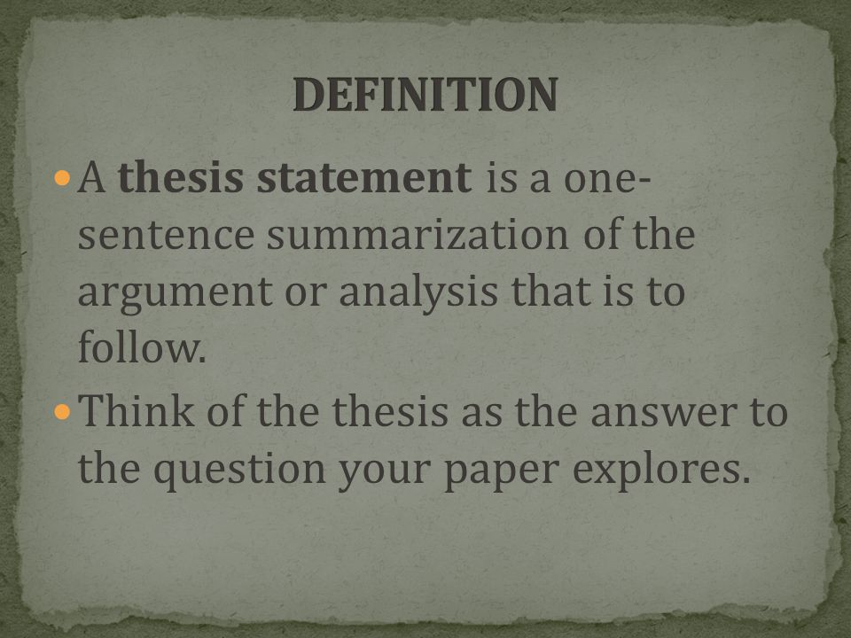 keys to successful essay writing a thesis statement is a one  a thesis statement is a one sentence summarization of the argument or analysis that is