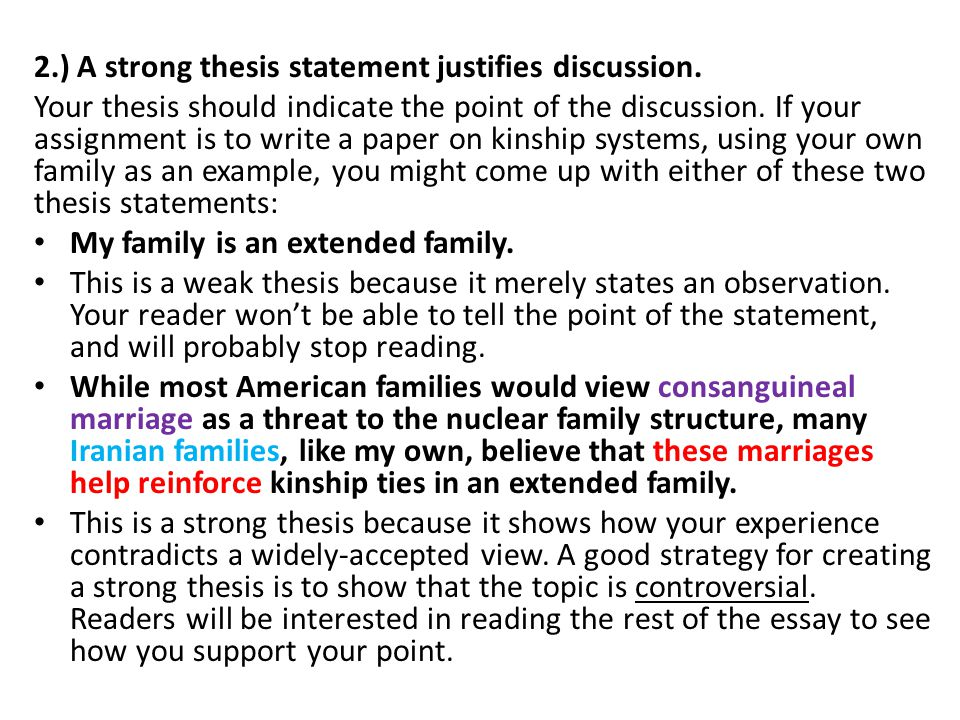 how to write a thesis statement for a essay
