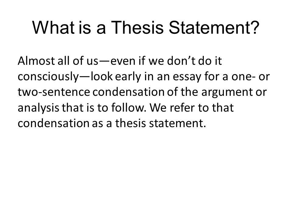 entrepreneurship thesis statement