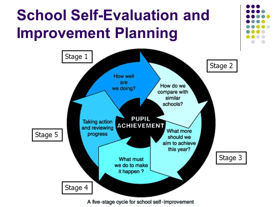 School Self-Evaluation and Improvement Planning Stage 1 Stage 2 Stage 3 Stage 4 Stage 5