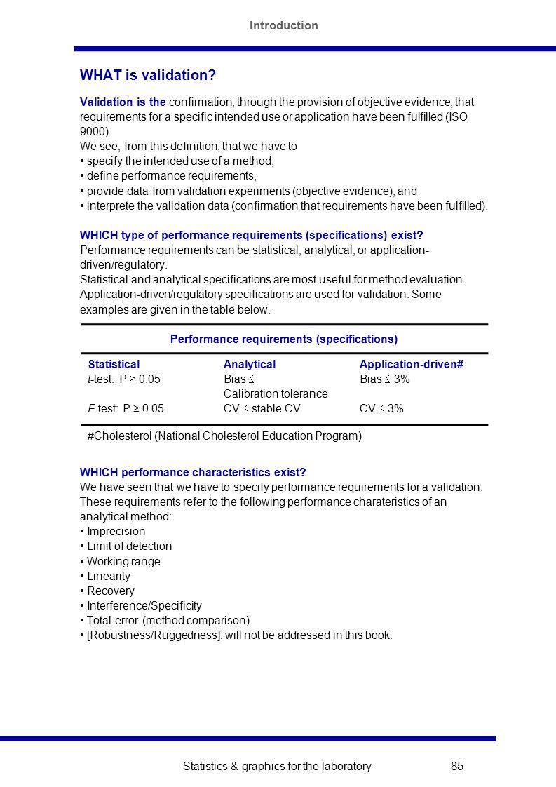 Statistics Graphics For The Laboratory 82 Method Evaluation