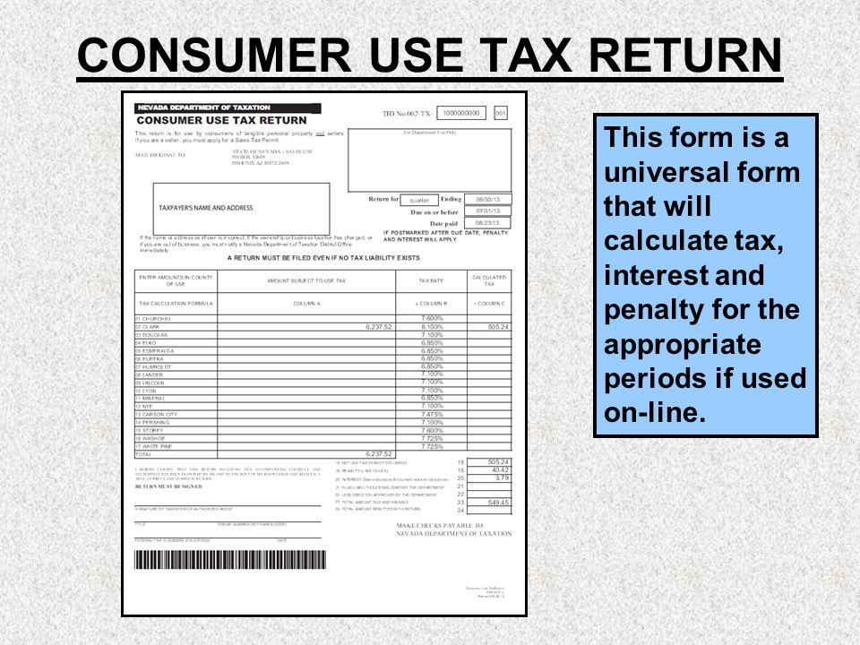 Nevada Consumer Use Tax Form Mersnoforum