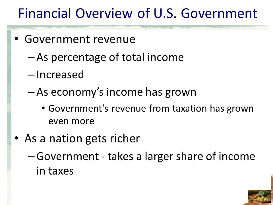 Financial Overview of U.S.