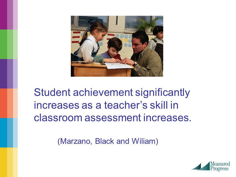Student achievement significantly increases as a teacher's skill in classroom assessment increases.