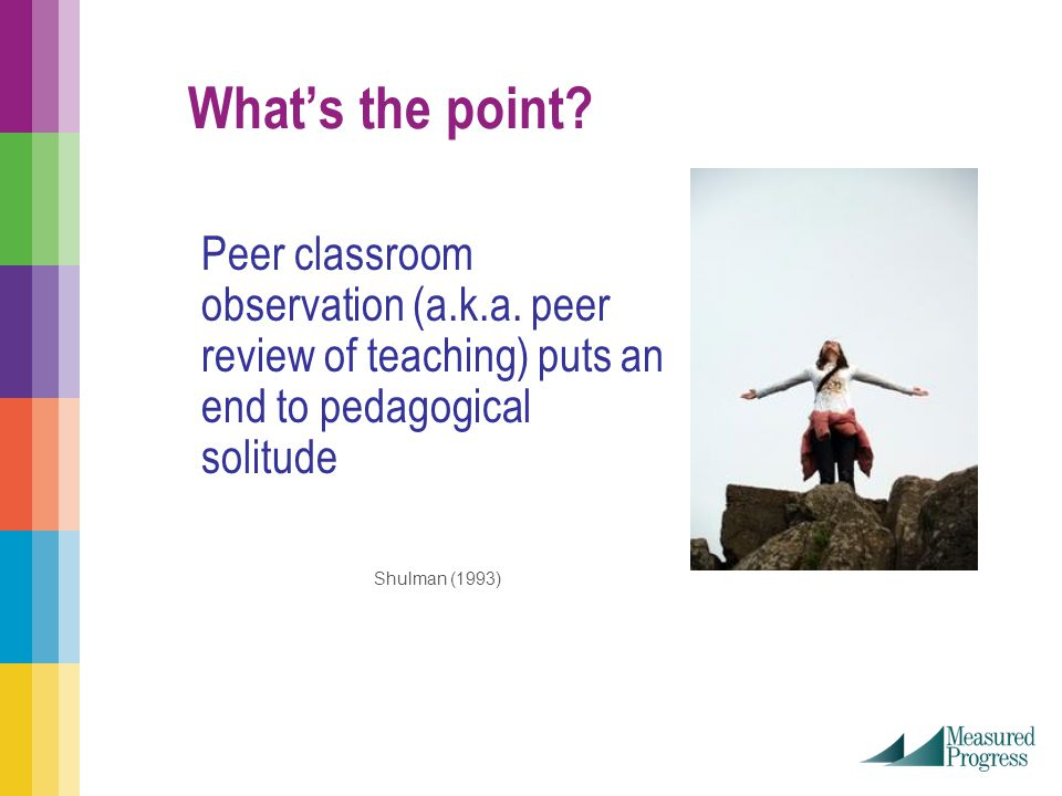What's the point. Peer classroom observation (a.k.a.