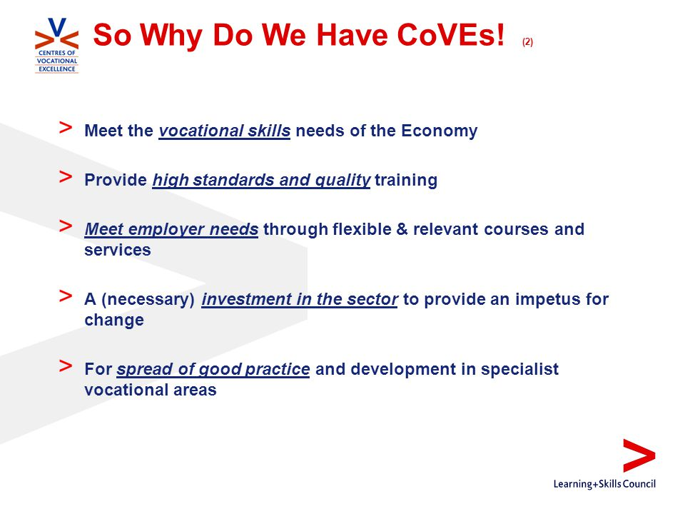 So Why Do We Have CoVEs.