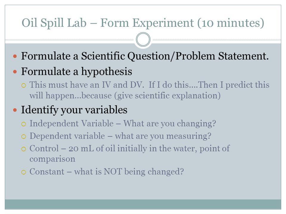 Oil Spill... HOMEWORK HELP! 10 pts.?