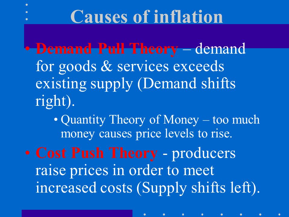 Inflation Inflation is a general rise in the price level Inflation reduces the value or purchasing power of your money The inflation rate is the percentage change in prices over time.