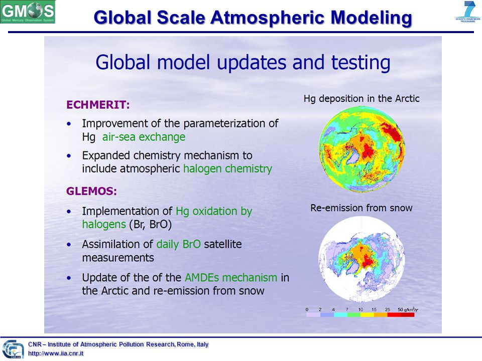 Global Scale Atmospheric Modeling CNR – Institute of Atmospheric Pollution Research, Rome, Italy