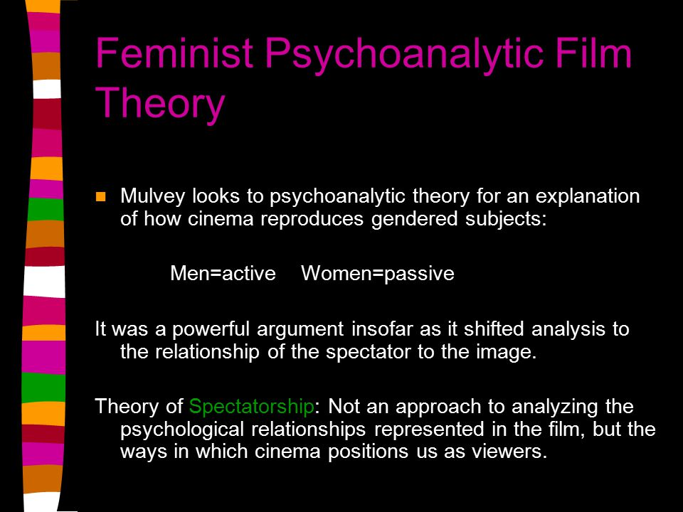 film theory essays Men, women and chainsaws by carol j clover: her body, himself at the bottom of the horror heap lies the slasher (or splatter or shocker or stalker) film.