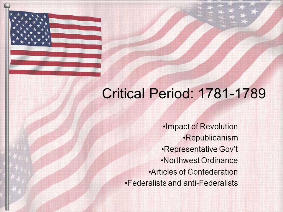 critical period 1781 1789