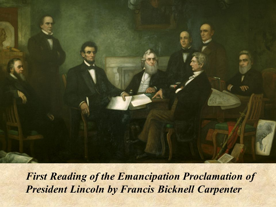 First Reading of the Emancipation Proclamation of President Lincoln by Francis Bicknell Carpenter