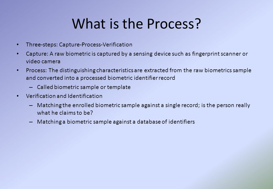 What is the Process.