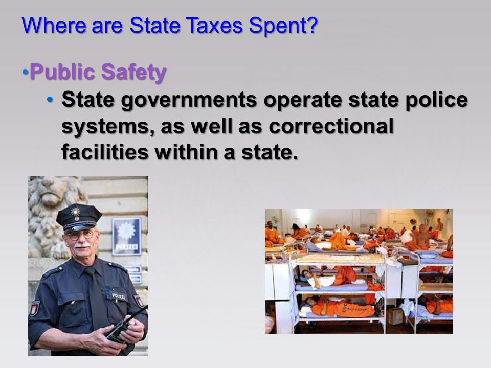 Where are State Taxes Spent.