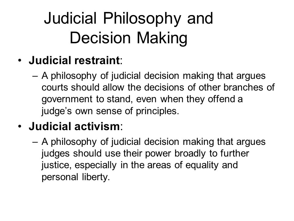 "judicial activism 2 essay It is the current term in use- ""judicial activism"" in a way it is an absurd term- if we have a judiciary it is to be hoped that its members will be active, but the term 'activism."
