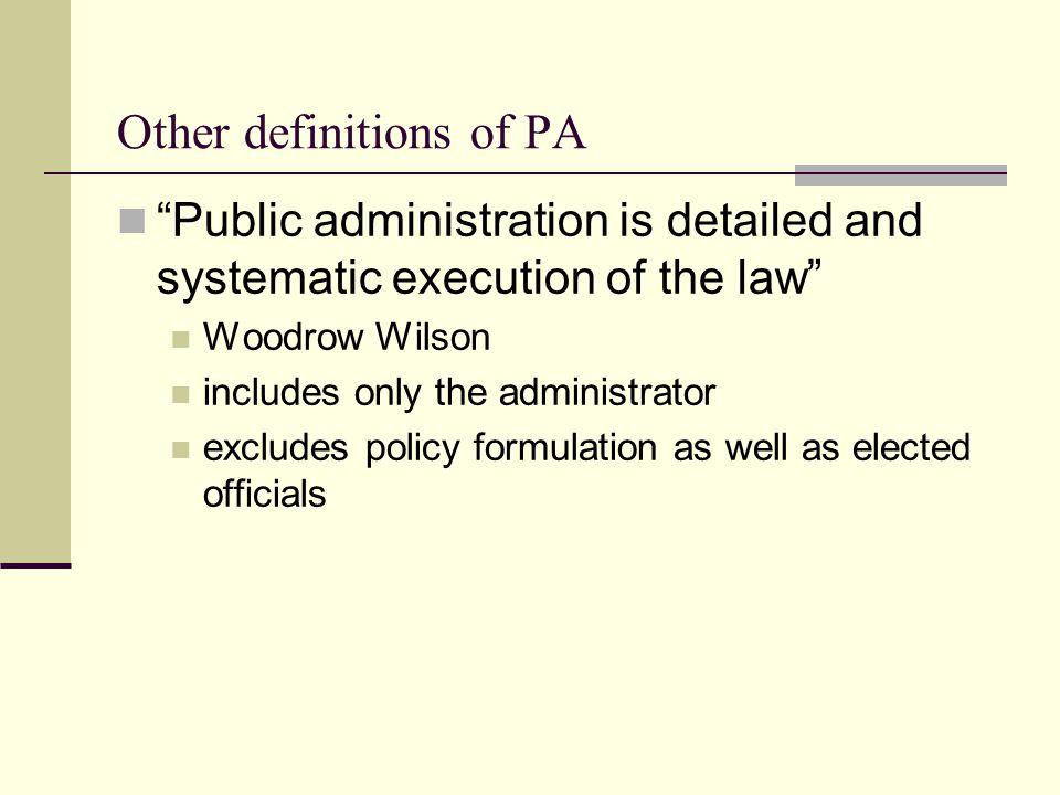 wilson public administration