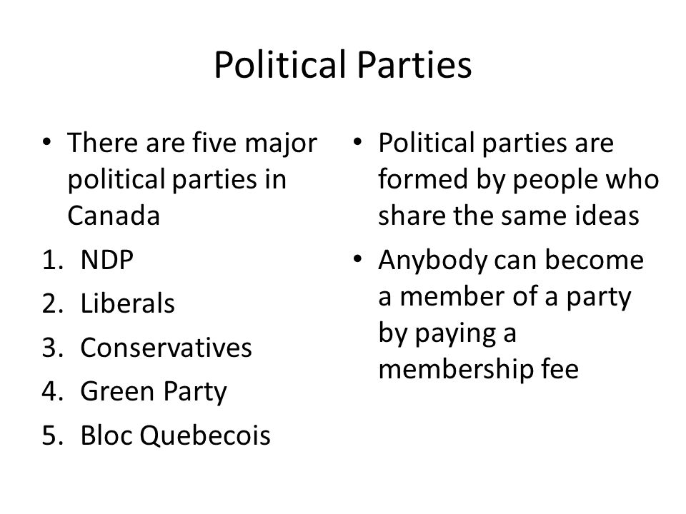 the four political parties of canada All four major national federal parties have released their election platforms read the documents here.
