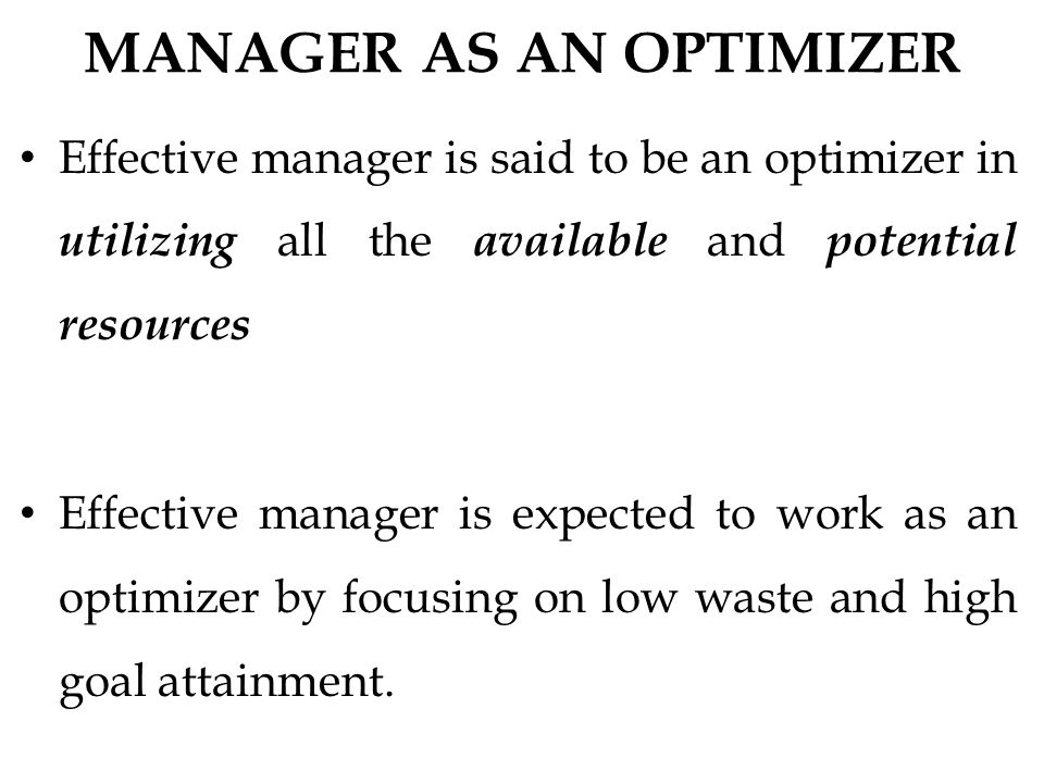 Effective manager essay