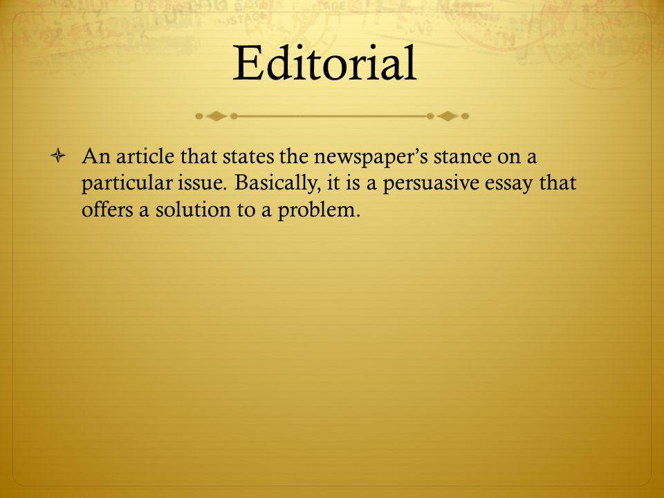 essays editorials Articles, essays, editorials featured jul 29, 2018.