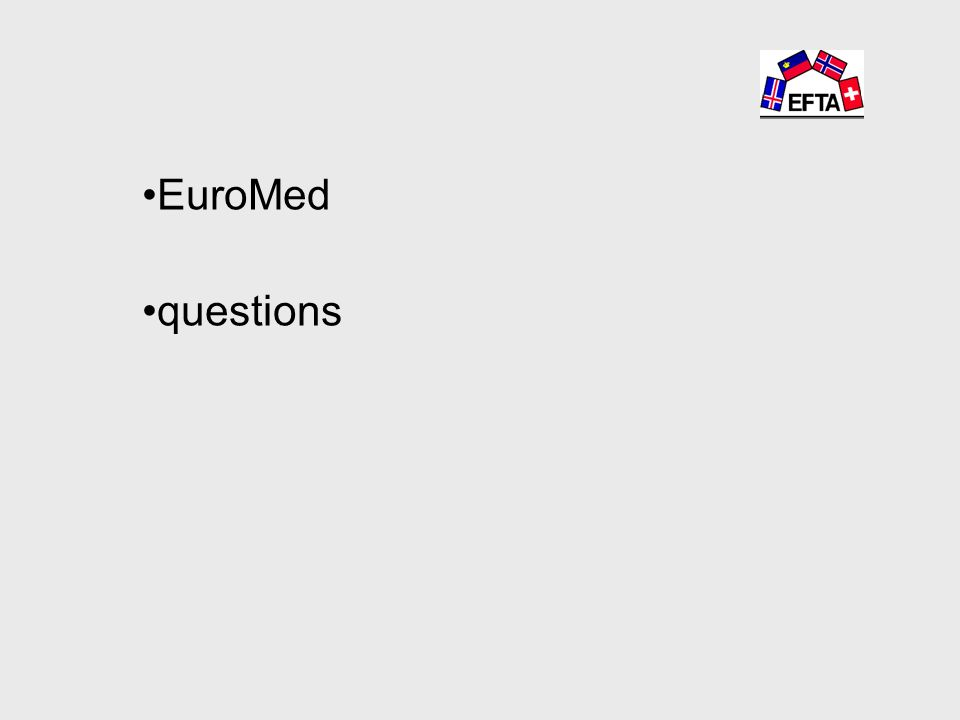 EuroMed questions