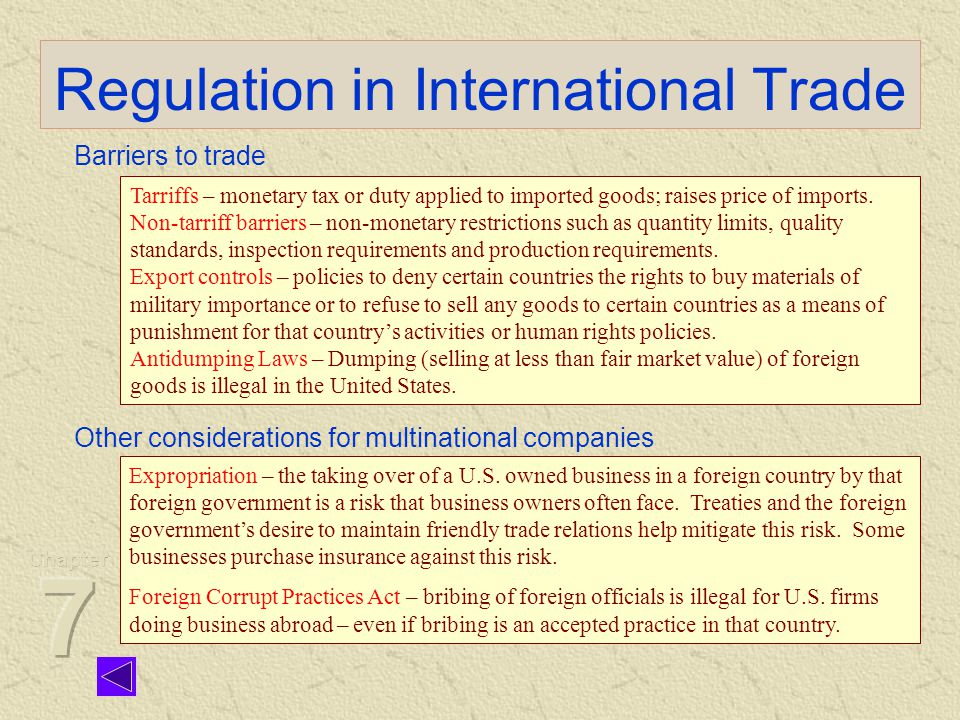 international business environment legal considerations legal considerations the legal aspects are important for the business choice laws are different in every country laws would regulate business practice, define the manner and set down the rights and obligations.