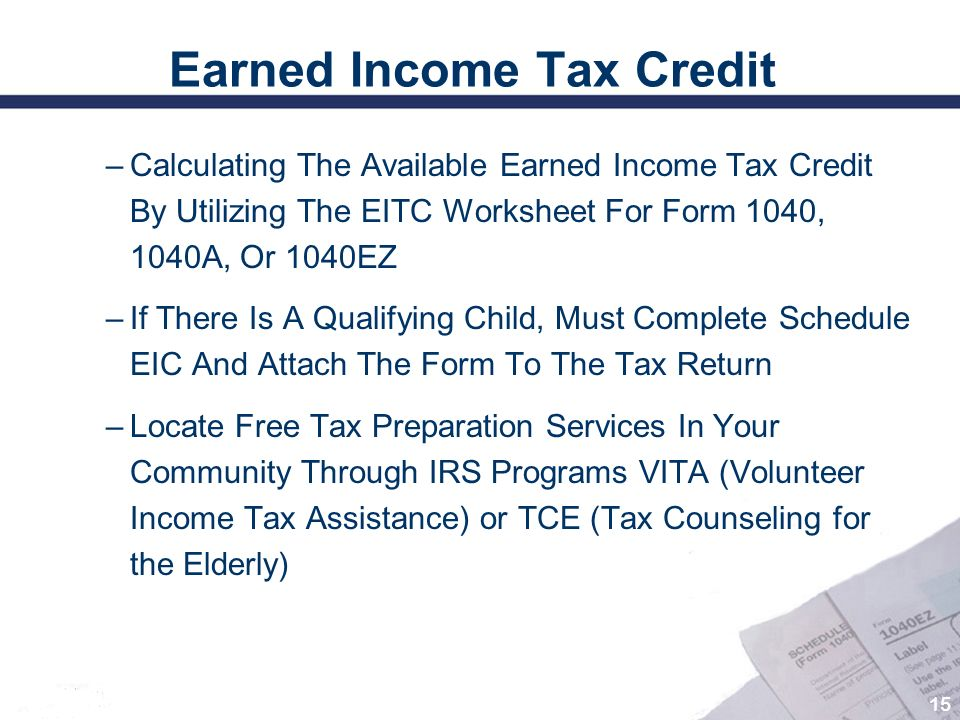 Printables 1040ez Earned Income Credit Worksheet maximizing tax benefits and credits for persons with disabilities 15 earned income credit the available by utilizing the